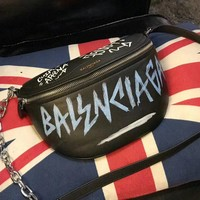 Balenciaga Souvenir Bag XS Graffiti Small graffiti print belt bag
