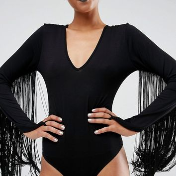 ASOS HALLOWEEN Body with Fringing at asos.com