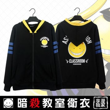 Anime Assassination Classroom Korosensei  Hooded Sweatshirt Hoodie Jacket Coat