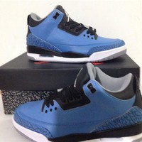 "Air Jordan3""Powder Blue"" Basketball Shoes 40-47"