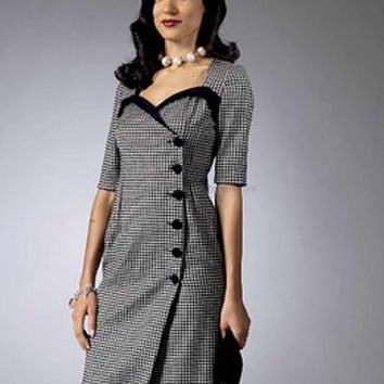 Retro Dress Pattern for Plus Sizes by Gertie New Butterick 5953 Paper Pattern, Sizes 14 to 22, Rockabilly Dress
