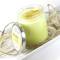 """Scented Soy Candle - Monkey Farts scented """"Fluorescent"""" Soy Candle -- 8 ounce Jar"""