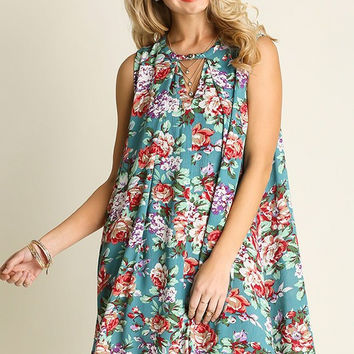 Breezy Floral Dress - Jade - Ships Tuesday 5/10