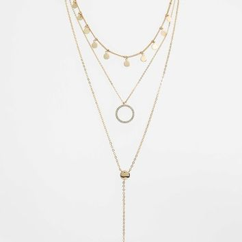 Panacea Disks & Circle Layered Necklace | Nordstrom