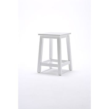 Halifax Stool White semi-gloss