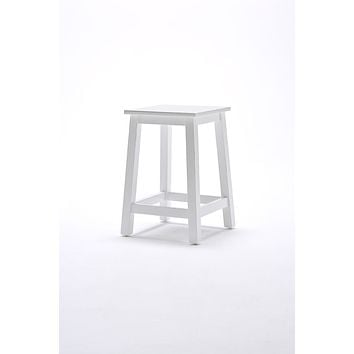 Halifax Stool White semi-glosspaint with a smooth top coat