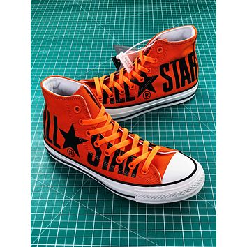 Converse All Star 100th Orange Balck High Top Shoes
