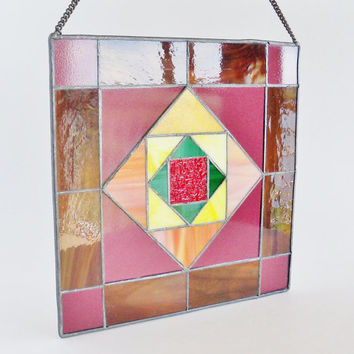 Stained Glass Suncatcher Window Panel