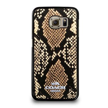 COACH NEW YORK SIGNATURE CITY Samsung Galaxy S6 Case Cover