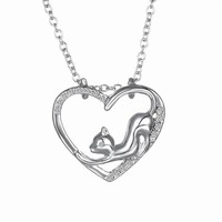 Kitty Love Cat Pendant Necklace