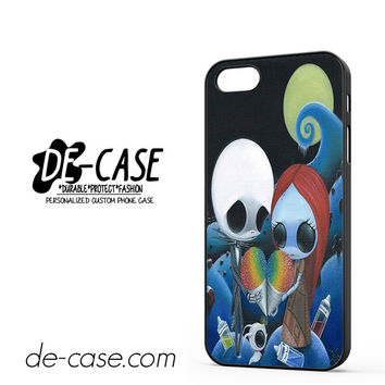 Jack And Sally Nightmare Before Christmas Rainbow Ice Cream For Iphone 5 Iphone 5S Case Phone Case Gift Present