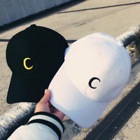 Embroidery Moon Golf Hat Baseball Cap Breathable Sports Cap for Men Women Gift 72