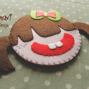 Handmade Felt Teapot Coaster, Felt Coffee Cup Pad, Hot Tea Cup Pad, Bowl Coaster/Cute Little Girl Ady Hot Coffee Cup Coaster