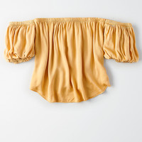 Don't Ask Why Puff Sleeve T-Shirt, Mustard
