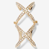 Double Crosser Rhinestone Ring