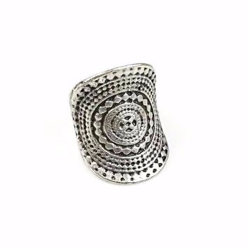 Tribal Spiral Ring