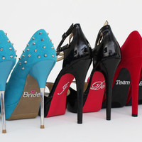 Team Bride Shoe Stickers for your Bridal Party