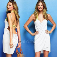 New sexy Beach Cover Up Beach Dress Swimwear Sarong Summer Bikini 8Colors VVF = 1955945860