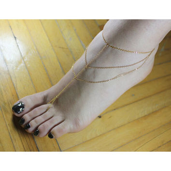 Shiny Sexy Stylish Jewelry New Arrival Cute Ladies Gift Accessory Strong Character Simple Design Chain Hair Accessories Anklet [8169891975]