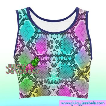 TECHNO LIZARD Music Festival Clothing Rave Outfit Festival Crop Top Rave Top Ibiza Style Hippie Clothes Rave Wear Rave Clothing Rave Party