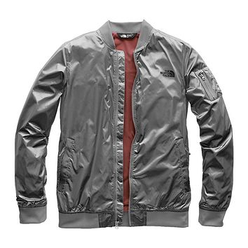 Women's Meaford Bomber in Shiny Mid Grey by The North Face