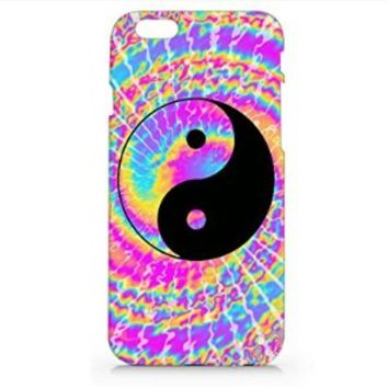 Tie Dye Yin Yang Iphone 6 Case, Iphone 6 Hard Cover Case (For Apple Iphone 6 4.7 Inch Screen)