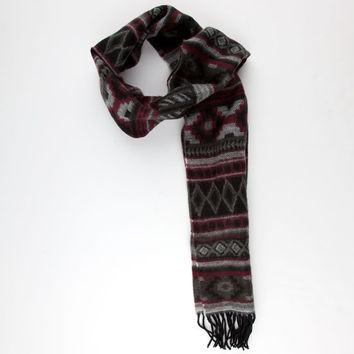 Aztec Print Scarf Grey One Size For Men 25164111501