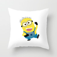 MINION...SAY WHAT?  Throw Pillow by Lauren Lee Designs