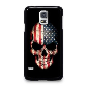 AMERICAN FLAG SKULL Samsung Galaxy S5 Case Cover