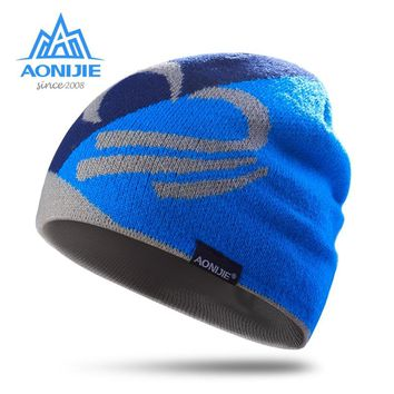 AONIJIE men women knitted hat outdoor cycling running sports warm wool Cap warm winter leisure sports cap