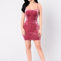 Luxury Stars Dress - Magenta