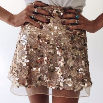 Fashion new sequin skirt