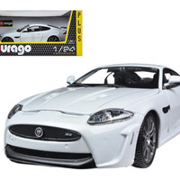 Jaguar XKR-S White 1-24 Diecast Car Model by Bburago