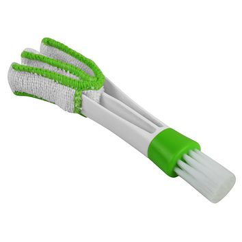 Evelots Window Blinds Duster Brush Multi-Function Cleaner With Microfiber Sleeve