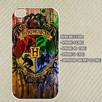 Hogwarts Logo Iphone 4 case , iphone 4s case , Iphone 5 case and Samsung Galaxy S3 case