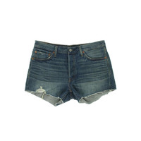 Levi's Womens 501 Distressed Mid-Rise Cutoff Shorts