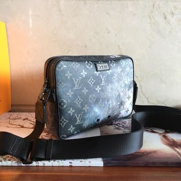 DCCK 1579 Louis Vuitton LV Paris Monogram Galaxy Alpha messenger bag
