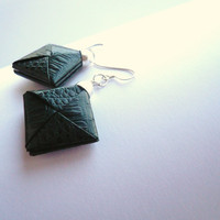 Origami jewelry paper dangle earrings by Manufactapaper