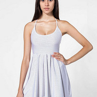 Polka Dot Nylon TricotFigure Skater Dress