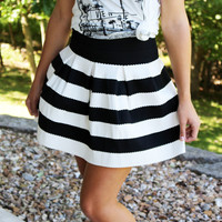 Be Mine Striped Skirt