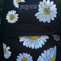 Hand Painted Daisy JanSport Backpack