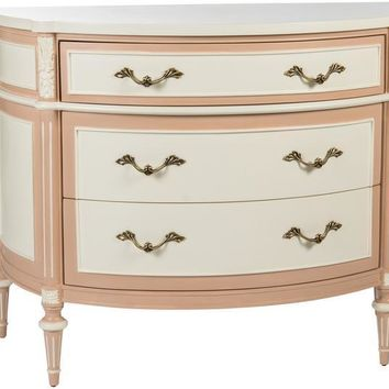 Antique Cream - Pink Commode