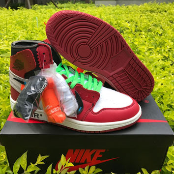 OFF-WHITE for Nike x Air Jordan 1 Beaverton, Oregon USA c.1985 Basketball Sneaker