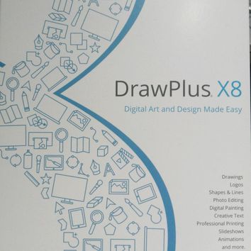 Serif Drawplus x8 - Create stunning designs/graphics 174 page clour full manual! | eBay