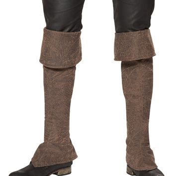 Roma Costume USA 4650B - Pirate Boot Covers with Zipper Detail Mens