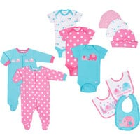 Walmart: Gerber Newborn Baby Girl 11-Piece Essential Layette Set