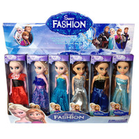 1pcs Anna dolls 2015 New fashion MINI Anna Elsa Dolls Mini Elsa And Anna Princess Kids Toys carttoon dolls best Gift for Girls