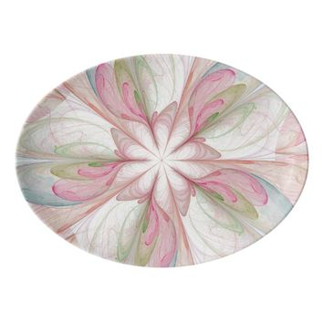 Fractal Art Design Porcelain Serving Platter