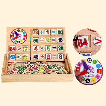 Montessori Educational Wooden Game Toy Baby Kids Early Learning  Box Toys for Children Math Toys