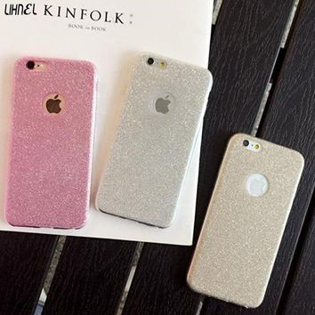 LIHNEL Glitter Shining Bling Case for iPhone 6 Plus Soft TPU Back Shell for iPhone X 5 5S SE 6 6S 7 7Plus 8 8Plus Cases Fundas